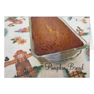 Pumpkin Bread Holiday Fresh Baked Recipe Card