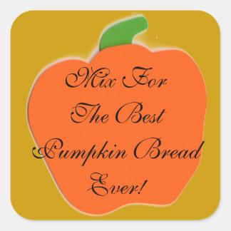 Pumpkin Bread or Pie Mix Label Square Sticker
