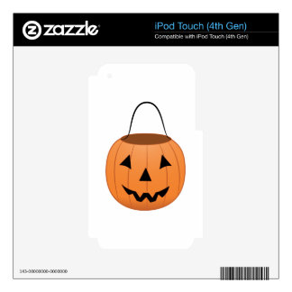 Pumpkin Bucket iPod Touch 4G Decal