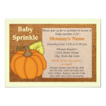 Pumpkin Burlap Fall Baby Sprinkle Invitation