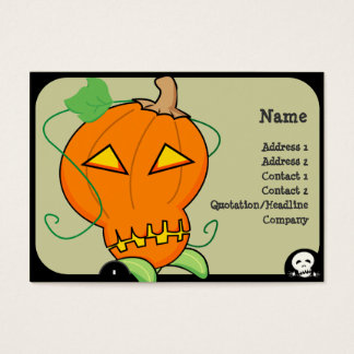 Pumpkin Business Card