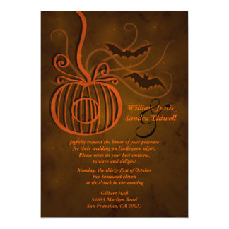 Pumpkin Cage Halloween Wedding Invitation