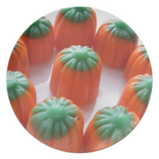 Pumpkin Candy Corn Dinner Plate