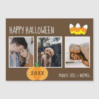 Pumpkin Candy Corn Photo Collage Happy Halloween