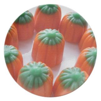 Pumpkin Candy Corn Dinner Plates