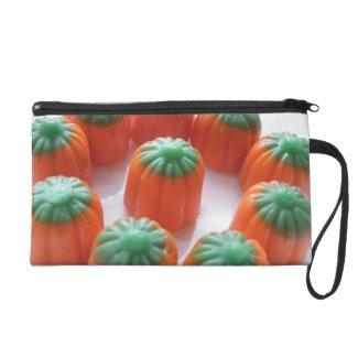 Pumpkin Candy Corn Wristlet