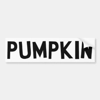 Pumpkin Car Bumper Sticker