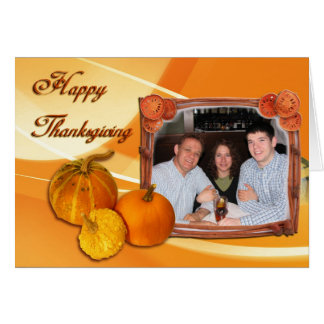 Pumpkin card with your photo xoxoxo