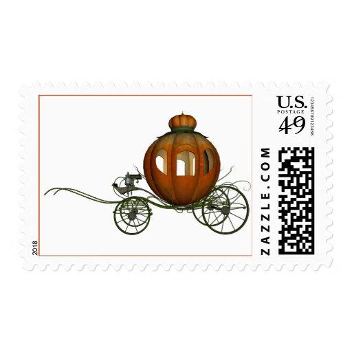 Pumpkin Carriage (2) Postage