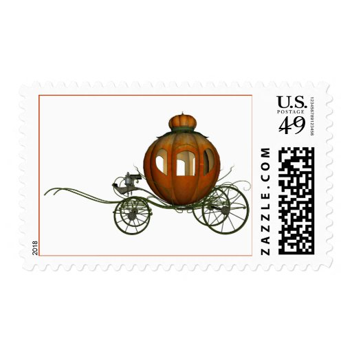 Pumpkin Carriage (2) Postage Stamps