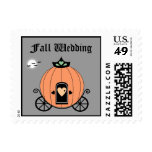 Pumpkin Carriage At Night Wedding Postage