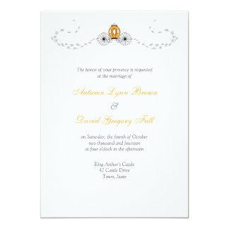 Pumpkin Carriage Fall Wedding Invitations