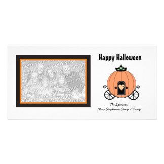 Pumpkin Carriage Halloween Photo Cards
