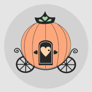 Pumpkin Carriage Party Stickers