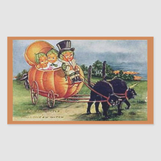 Pumpkin Carriage Rectangular Sticker