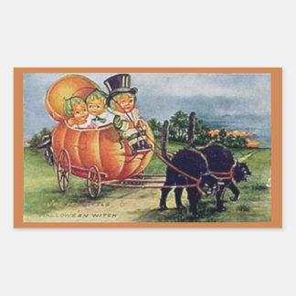 Pumpkin Carriage Rectangular Sticker