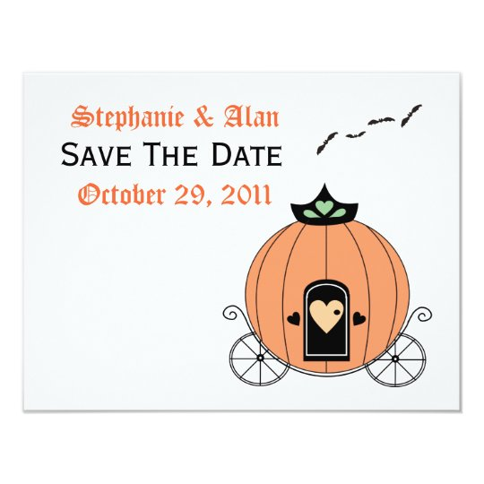 Pumpkin Carriage Save The Date Card