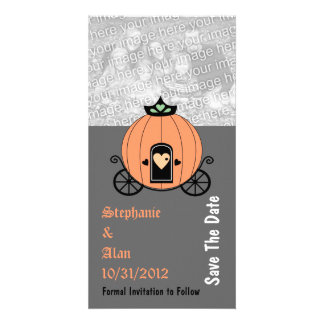 Pumpkin Carriage Save The Date Photo Cards