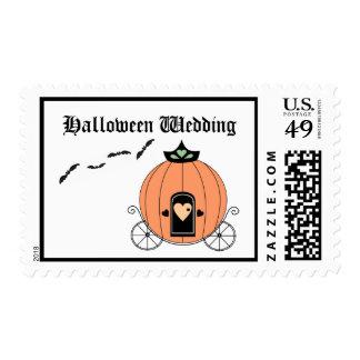 Pumpkin Carriage Wedding Postage