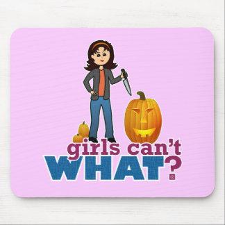 Pumpkin Carver Girl Mouse Pad