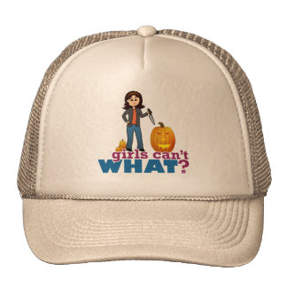 Pumpkin Carver Girl Trucker Hat