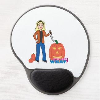 Pumpkin Carver - Light/Blonde Gel Mouse Pads