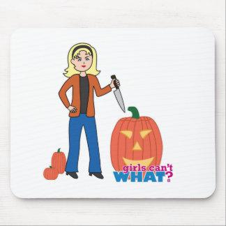 Pumpkin Carver - Light/Blonde Mousepads