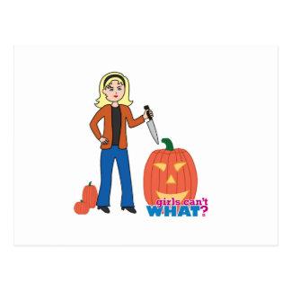 Pumpkin Carver - Light/Blonde Postcard