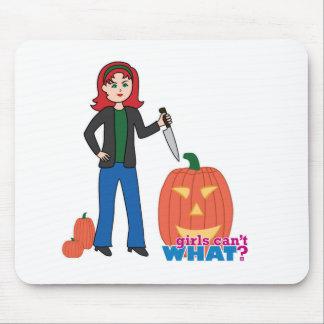 Pumpkin Carver - Light/Red Mouse Pads