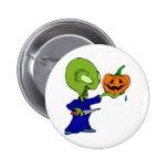 Pumpkin Carving Alien Button