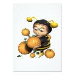 Pumpkin Carving Bee 5x7 Paper Invitation Card
