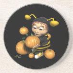 Pumpkin Carving Bee Coasters