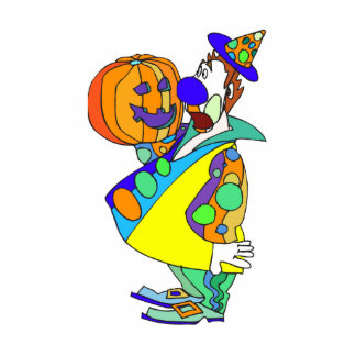Pumpkin carving clown statuette