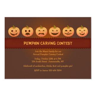 Pumpkin Carving Contest Invitation