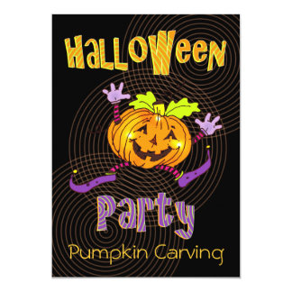 Pumpkin Carving Halloween Party Announcements