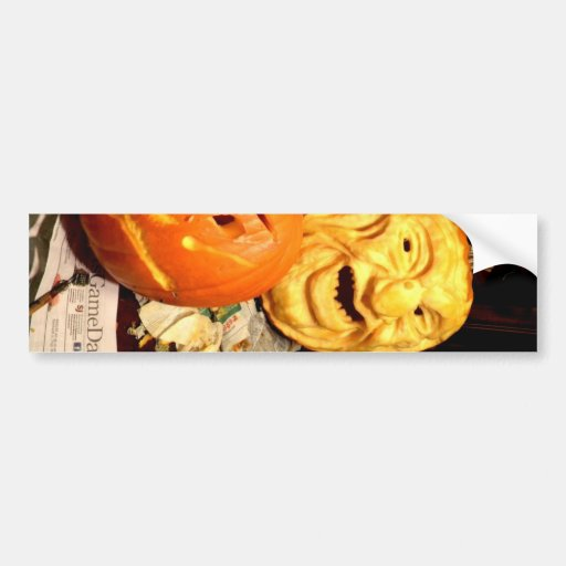 Pumpkin Carving I Bumper Stickers