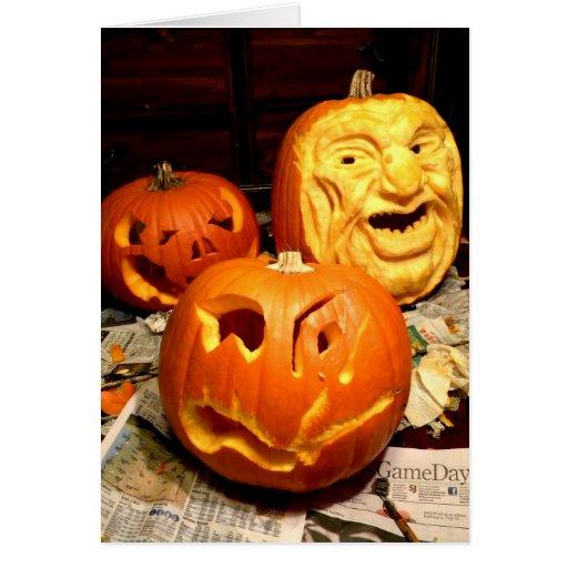 Pumpkin Carving I Card