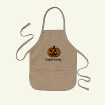 Pumpkin Carving Kids' Apron