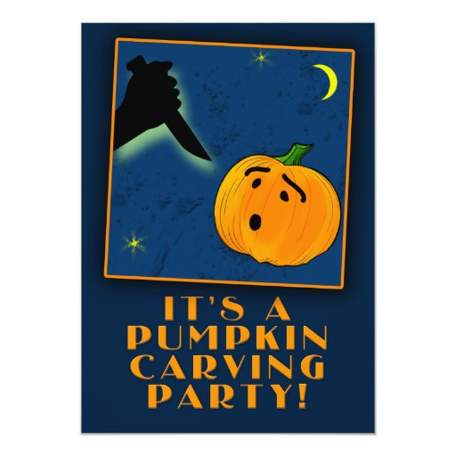 PUMPKIN CARVING PARTY Customizable Invitations