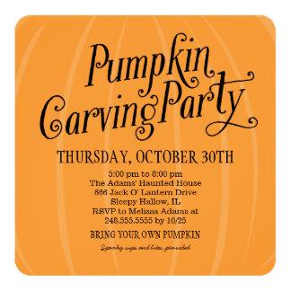 Pumpkin Carving Party   Halloween Card