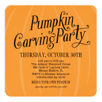 Pumpkin Carving Party | Halloween Invitation