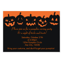 Pumpkin Carving Party Halloween Invitations