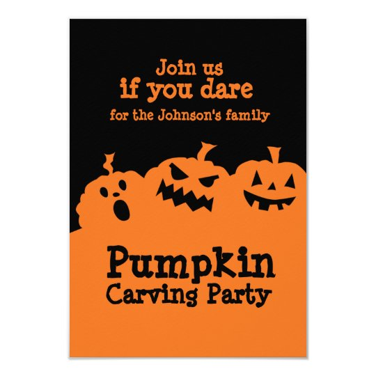 pumpkin carving party invitation zazzle com