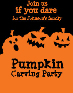 pumpkin carving invitations zazzle
