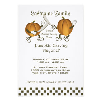Pumpkin Carving Party 5x7 Paper Invitation Card