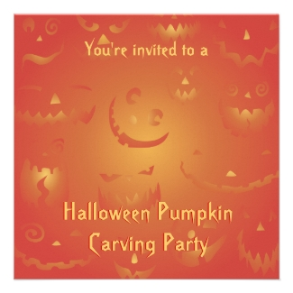 Pumpkin Carving Party Invitations