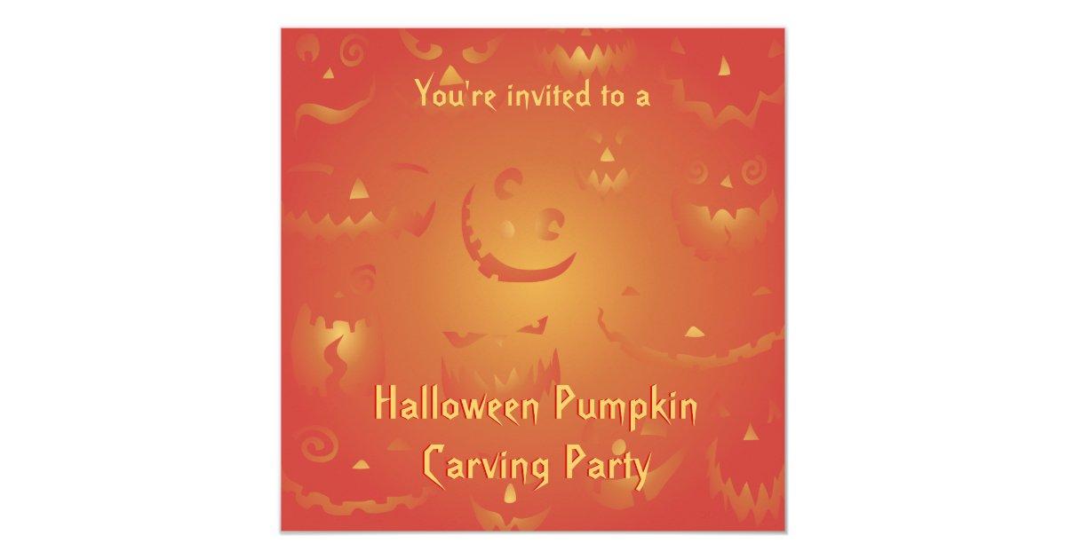 Pumpkin Carving Invitations & Announcements   Zazzle