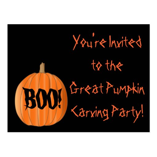 Pumpkin Carving Party Postcard