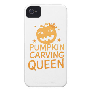 Pumpkin carving QUEEN! iPhone 4 Case-Mate Case