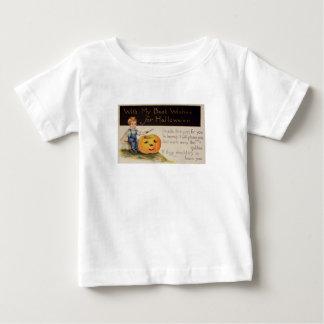 Pumpkin Carving (Vintage Halloween Card) Baby T-Shirt